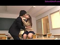 Schoolgirl Giving Blowjob For Teacher In The Classroom