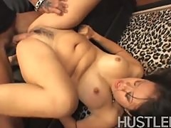 Kyanna Lee getting her hairy pussy fucked