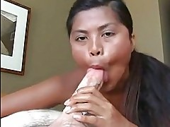 Arcadia Davida gags on a thick hard shaft before getting a f...