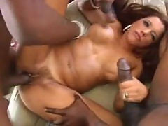 Francesca le anally fucked by black cock orgy