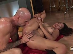 Katreena Lee Gets some Hard Fucking Againts a Bar Counter