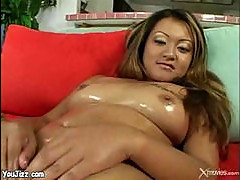 Lielani Li oiled up for black wiener