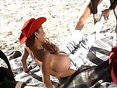 Cowgirls Donita Dunes And Busty Asian Minka Eat Pussy Outside