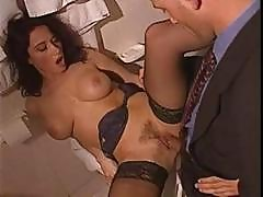 Busty Brunette Erika Bella Eats His Rod And Then Gets Drilled
