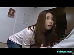 Asian Girl Giving Blowjob Licked In 69 On The Mattress In The Room