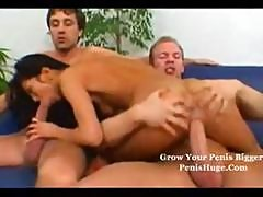 Skinny Asian Hottie Gets Double Penetrated By Two Nasty Cocks