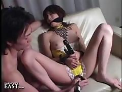 Japanese Chick Is Bound And Gagged And Gets Her Snatch Vibrated