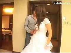 Cute Bride Getting Her Pussy Fingered Licked On..