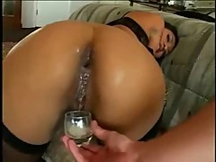 Asian dp anal creampie