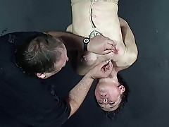 Needle torture of suspended asian slaveslut Mei