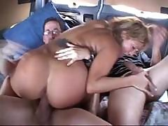 Nasty Blonde Japanese Chick Gets Herself Double Penetrated