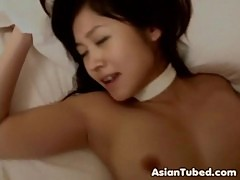 Asian beauty happy with jizz load moe osawa