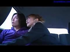 Hot Milf Giving Blowjob For Guy Cum To Mouth In The Back Of The Taxi