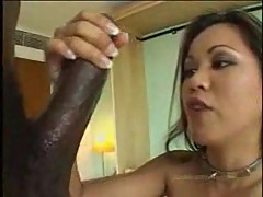 Monster cock in Asian asshole