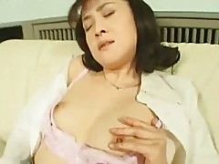 Horny Asian Wife Masturbating in Nylons