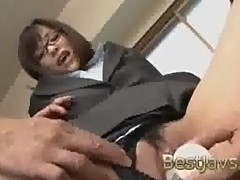 Secretary gets her juicy cunt teased with..